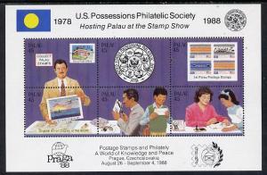 Palau 1988 \'Praga 88\' Stamp Exhibition (US Possessions ...