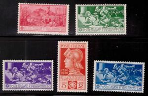 Italy Scott 242-246 MH* 1930 Ferrucci set  CV $36.50