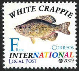 Fish: White Crappie - Intl. Local Post - MNH - Cinderella
