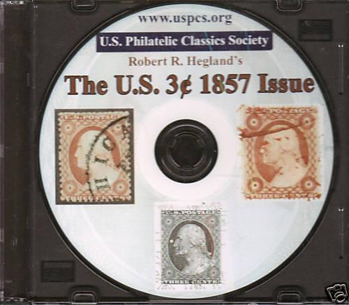CD - US 3c 1857 Issue, Robert R. Hegland
