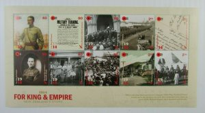 2014 SC #2542e FOR KING & EMPIRE 1914 New Zealand's Story  MH Souvenir Sheet