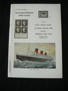 ROBSON LOWE AUCTION CATALOGUE 1966 RADIO AUCTION RMS QUEEN MARY
