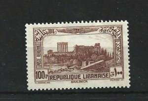 LEBANON  1937 - 40  100P  BROWN    MNH