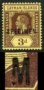 Cayman Is SG45as 3d Opt SPECIMEN BROKEN M a MAXIMUM of 7 are possible U/M