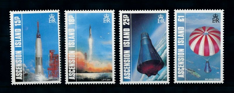 Ascension MNH 420-3 Space Flight Anniversary 1987