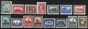 Newfoundland Sc 145-159 Issue of 1928 MNH Original Gum Set
