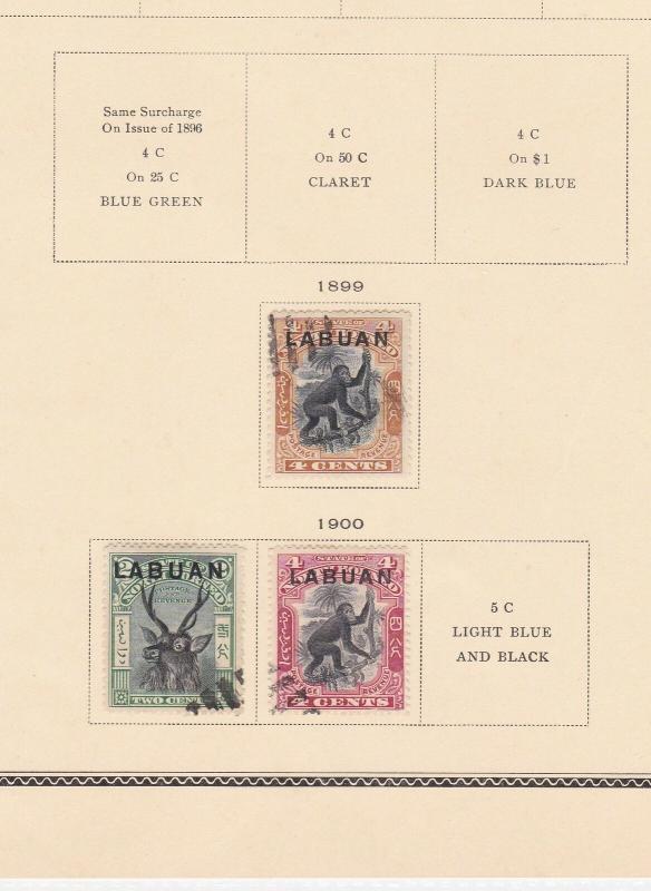 Labuan 1899 - 1900 overprint stamps  ref R8200