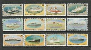 Tristan Da Cunha 1994 Ship Defs complete UM/MNH SG 553/64