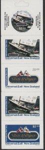 NEW ZEALAND Universal Mail $10 International Mail Booklet - Stars & Stripes.R520