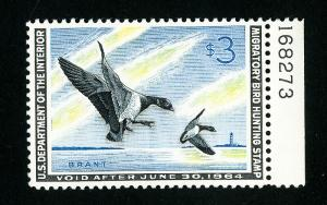 US Stamps # RW30 Supurb Includes Plate Number OG NH Scott Value $100.00