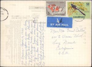 Singapore, Birds, Fish, Picture Postcards