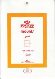 PRINZ BLACK MOUNTS 196X158 (4) RETAIL PRICE $10.50