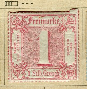 GERMANY THURN & TAXIS; 1865 early classic Imperf issue unused 1sg. value