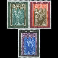 ANDORRA FR. 1971 - Scott# 207-9 Revelation Set of 3 NH