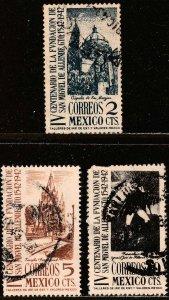 MEXICO 781-783, S. Miguel de Allende 400th Anniv. Used. F-VF. (164)