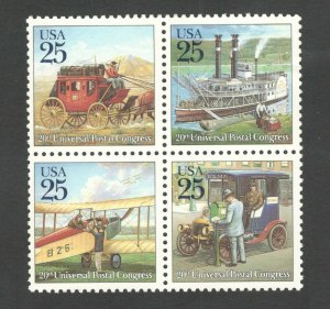 2434-37 20th UPC Congress Complete Block Of 4 Mint/nh FREE SHIPPING