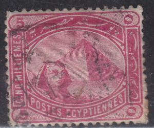 Egypt 48 Sphinx and Pyramid 1888