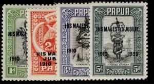 AUSTRALIA - Papua GV SG150-153, SILVER JUBILEE set, NH MINT. Cat £18.