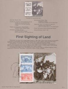 REDUCED!! 1992 Six Christopher Columbus S/S Souvenir Page FDC's