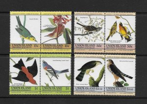 BIRDS - UNION ISLAND ST VINCENT)   #186-9  MNH