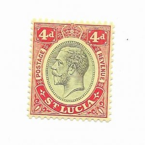 St. Lucia #85 MH - Stamp - CAT VALUE $1.40