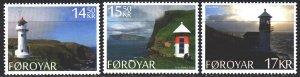 Faroe Islands. 2014. 806-8. Landscapes, lighthouses. MNH.