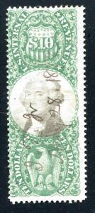 US Revenue R149 $10 Green & Black 1872 CV $400.00