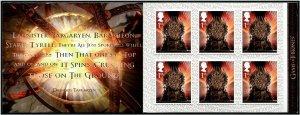 HERRICKSTAMP GREAT BRITAIN Sc.# 3695g Game of Thrones Retail Booklet