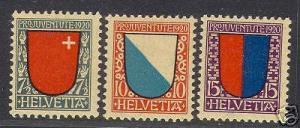 Switzerland #B15 - #B17 XF/NH Set