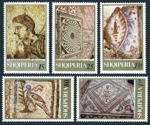 Albania 1268-1272,MNH.Michel 1396-1400. Greco-Roman Mosaics 1969.Birds,Trees.