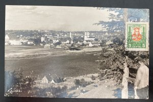 1931 Kaunas Lithuania Real Picture Postcard cover City View