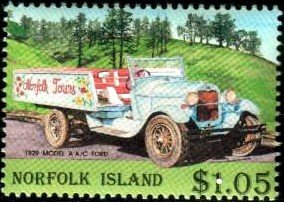 Vintage Car, 1929 Model A A/C Ford Truck, Norfolk Island stamp SC#571 MNH