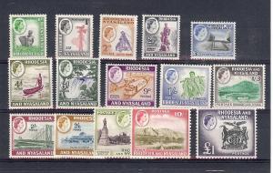 Rhodesia & Nyasaland, 158-71, Various Designs Singles,**H**