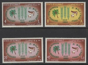 KUWAIT SG184/7 1963 FREEDOM FROM HUNGER MNH