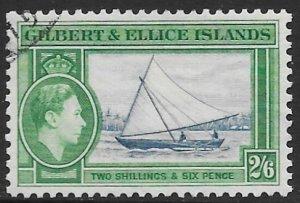Gilbert & Ellice 50  1936   2sh 6p  fvf used