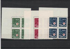 Croatia Red Cross  Mint Never Hinged Stamps Blocks ref R 18354