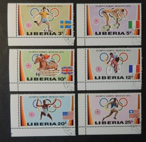 Liberia 1972 olympic games sport football swimming showjumping cycling flags