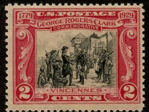 US Scott #651 Mint FVF; Never Hinged