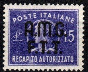 Italy Trieste #EY3 F-VF Unused CV $80.00 (X176)