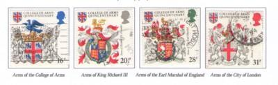 Great Britain Sc 1040-3 1984 Heraldry stamps used