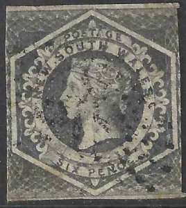 New South Wales 1854-1855 SC 29 Used SCV $110.00