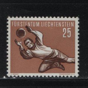 LIECHTENSTEIN 279 Hinged, 1954 Goalkeeper