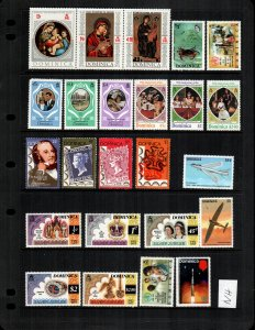 Dominica 24  diff mint never hinged MNH