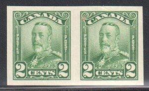 Canada #150b XF NH Imperf Pair -- Has a very small gum skip