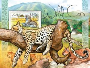 Uganda MNH S/S Wild Cats Fauna 2012