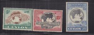 CEYLON, 1949 UPU set of 4, mnh..