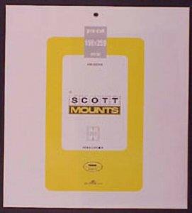 Scott/Prinz Pre-Cut Souvenir Sheets Small Panes Stamp Mounts 159x259 #1005 Black