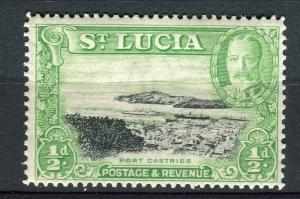 ST. LUCIA; 1936 early GV issue fine Mint hinged 1/2d. value