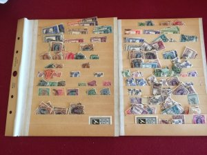 British India One man's collection of Hundreds on 2 Stock pages lot of value