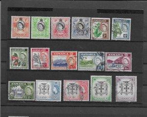 JAMAICA 1956-58 Set of 16 used